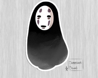No Face sticker, anime spirited away notebook sticker laptop stickers decal