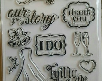 Wedding Bliss Clear Stamps