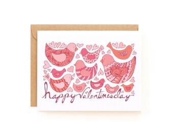 Valentine Birds Greeting Card