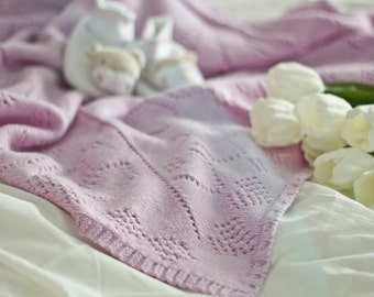 FREE SHIPPING Knitted baby blanket Middleton