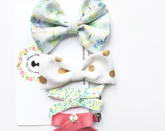 BIRTHDAY GIRL bow set