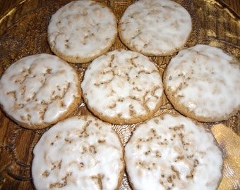 Homemade Old Fashioned Iced Oatmeal Cookies (30 Cookies)
