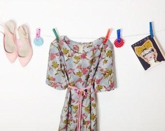 80's Dress.Womens Dresses.1980 Dress. Vintage Dress. Vintage dress from 80's. Trapeze  Vintage Dress. Free Shipping. Dresses .Size-L