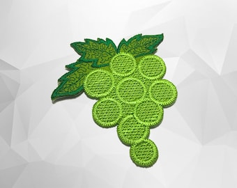 Green Grapes Iron on Patch(L1) - Grapes Applique Embroidered Iron on Patch- Size 7.3x8.0 cm