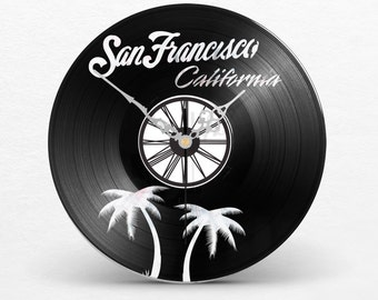 Wall clock vinyl San Francisco California California