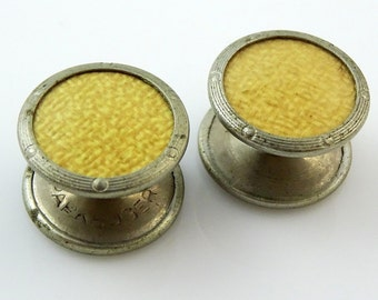 Vintage Yoyo Link Cufflinks Park Roger Signed Yellow Small Parkroger