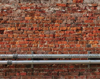 Brick Wall/Digital Backdrop/Brick Wall Texture/Digital Background/Grunge Brick Wall/Background Stock/Instant Download/Photography Background