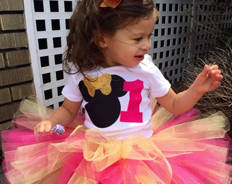 Minnie Mouse Birthday Outfit, Pink Minnie Mouse Outfit, 1st Birthday Outfit, Birthday Tutu Outfits, 1st Birthday Tutu Set, Minnie Tutu Set