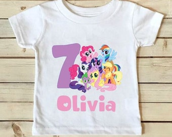 My Little Pony Birthday Shirt- My Little Pony Shirt - Birthday Shirt - Girls Birthday Shirt - MLP - Personalized Shirt - Custom Shirt-