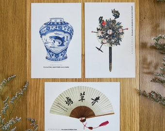 Korean traditional goods_Illust_post cards SET (3cards)