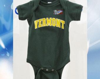 Vermont Onesie - VT Bodysuit - UVM Toddler clothing - University of Vermont clothes - vermont kids clothes - UVM kid clothes