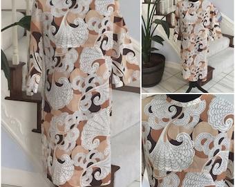 Vintage 1960 Dress with Pattern  Large/Xlarge
