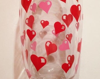 33 x valentines day hearts stickers decals graphics for diy celebration glasses dining meal champagne wedding glass toast