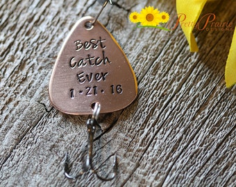 Best Catch Ever Fishing Hook - Custom Fishing Lure - Engraved Lure for Boyfriend - Men's Gift for Anniversary or Birthday
