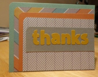 Blank thanks card