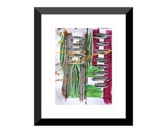Reflection of Youth 2| Wall Art | Home decor | Housewarming Gift | Original Art | Abstract Painting | Abstract Art | Acrylic | Mixed Media |