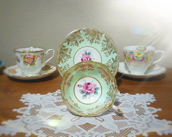 Mint Green Paragon Teacup