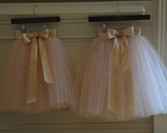 Blush color tutu,Girls Tulle skirts, flower girl tutu,Soft Tulle,Flower Girls CUSTOM sewn tutus for Girls,