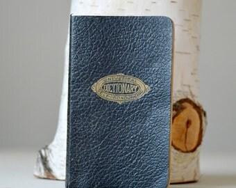 Vintage 1941 Winston New Universal Self Pronouncing Dictionary Pocket Edition Black