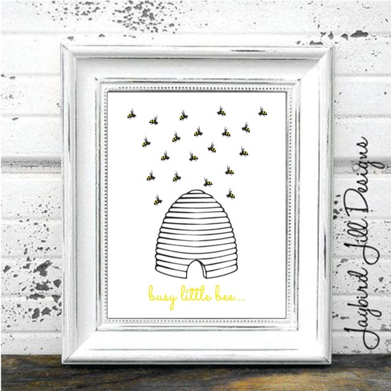 Hive Wall Decor Umbra : Items similar to bee hive print busy little nursery