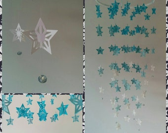 Star chandelier mobile - nursery mobile