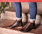 SALE - 15% OFF - Chelsea - Womens Ankle Boots, Leather Boots, Chelsea Boots, Brown Boots, Casual Style, Custom Boots, FREE customization!!!