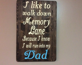 Memories of dad, hand painted, Canada shop