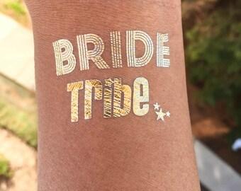 Wedding, Bride, Bridesmaids, Temporary Tattoo, Bachelorette party favor,bride tribe tattoo,bachelorette tattoo,gold tattoo, party tattoo