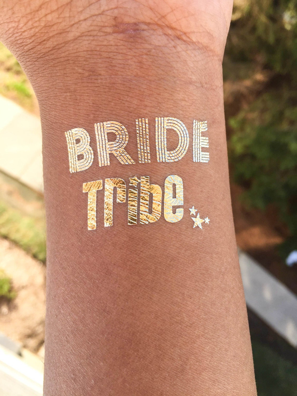 Wedding bride bridesmaids temporary tattoo bachelorette for Temporary tattoos wedding