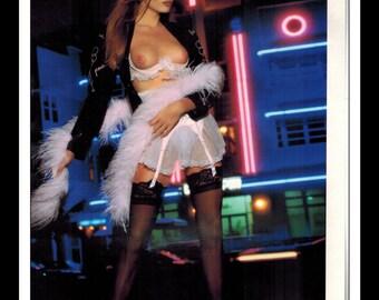 "Mature Celebrity Nude Supermodel : Julie Lynn Cialini Single Page Photo Wall Art Decor 8.5"" x 11"""