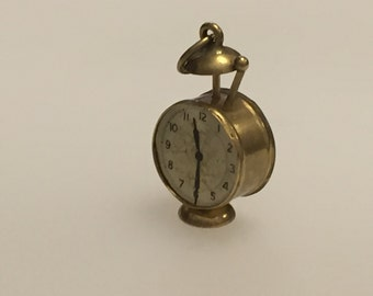 Gold Alarm Clock Charm