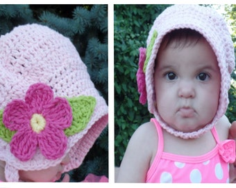 Crochet Baby Summer Fun Sun Hat Bonnet Pattern