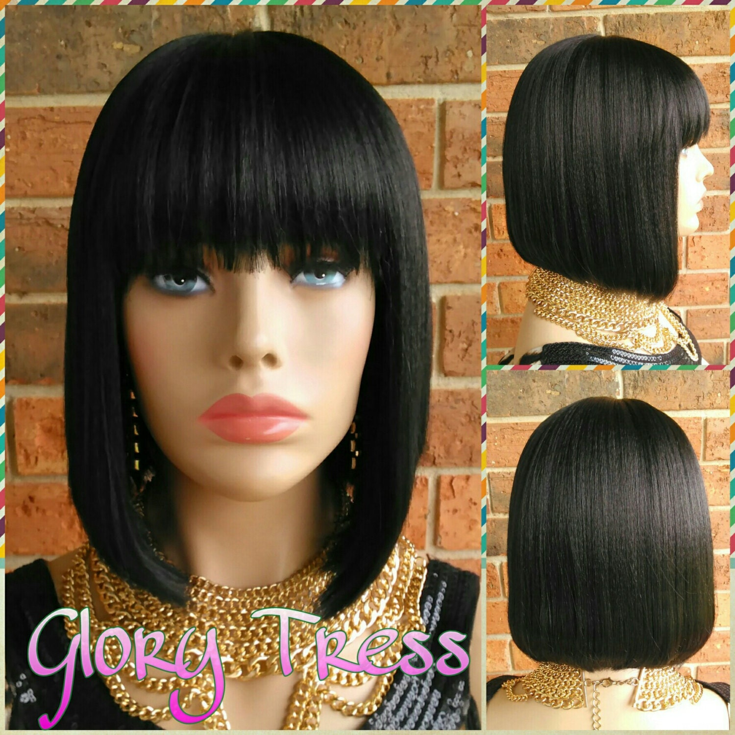 On Sale Celebrity Inspired China Bob Wig 100 Human Hair