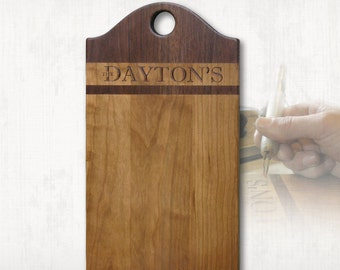 Cheeseboard, Charcuterie Board Personalized Woodburning