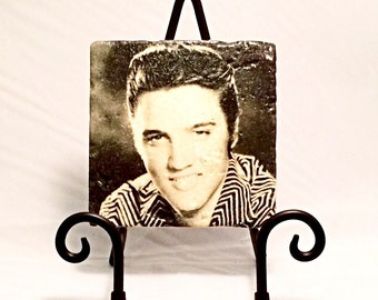 Sepia Elvis Presley Coaster Set ( Set includes 4 Tiles )