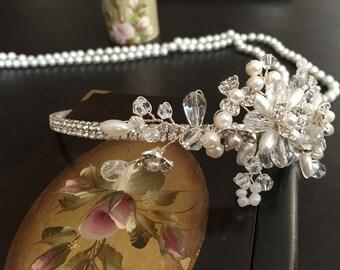Pearl Wedding Headband, Bridal Hair Accessories, Wedding Headpiece, Tiara