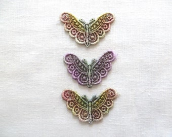Hand dyed Butterfly Applique Venise Lace 6002D
