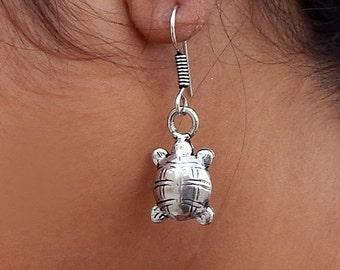 On Sale Tortoise Shape Sterling Silver Earrings - Best Gift