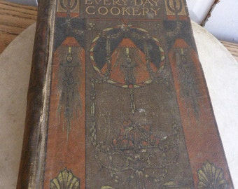 Antique Mrs Beeton's Every Day Cookery Book Cookbook dated 1907