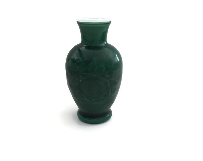 Avon Vase,  Collectible Avon, Jade Green Vase, Vintage Avon, Green Ceramic Vase, Flower Vase, Bud Vase
