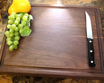Personalized Chopping Block, 12x15~1&3/4 thick Walnut, Engraved Butcher Block  - Wedding Gift, Anniversary Gift, Housewarming and Birthday