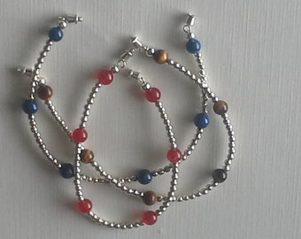 Stone and Sterling Silver Bracelet