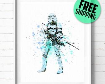 Star Wars Stormtrooper print, Star Wars print, Stormtrooper poster, Star Wars art, Stormtrooper art, abstract, wall art, [32] office decor