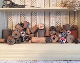 Wooden spools 34