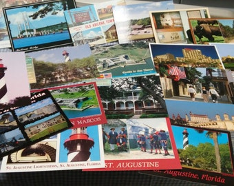 Post card set of various cards