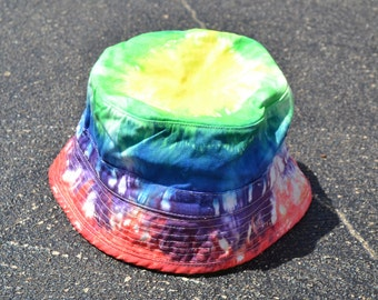 Tie Dyed Rainbow Bucket Hat Children's Sizes