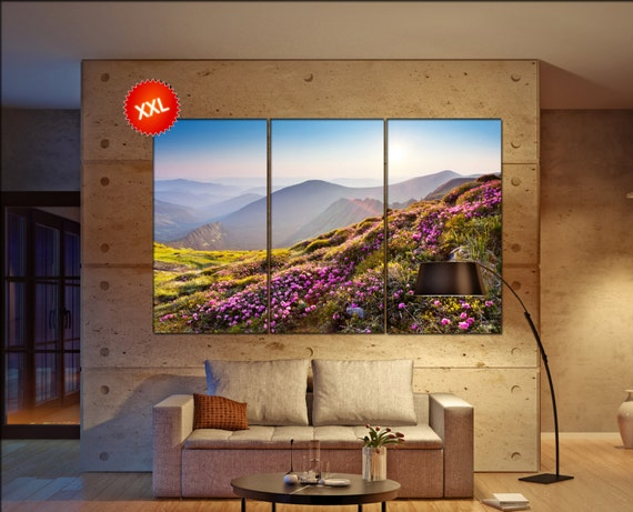 mountain flowers  canvas mountain flowers wall decoration mountain flowers canvas art mountain flowers large canvas