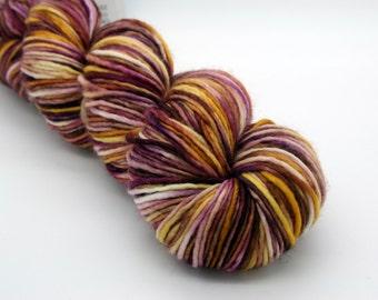 Dk merino superwash roving singles hand dyed wool yarn