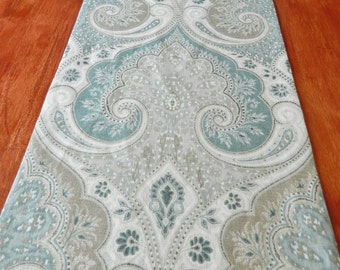 "Table Runner / Kravet Latika Seaform Linen Fabric / Lined Table Runner / 12""W / Any Length Available / Ready to Ship!"