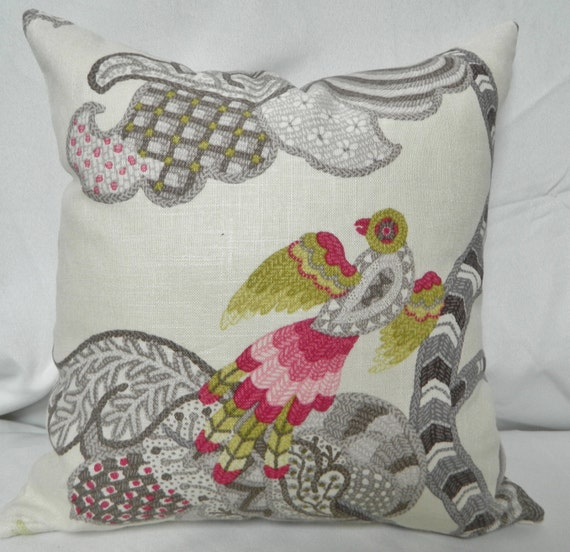 Bird Pattern Throw Pillows : P. Kaufmann Decorative Bird Pattern Throw by DesignAndDecor1004